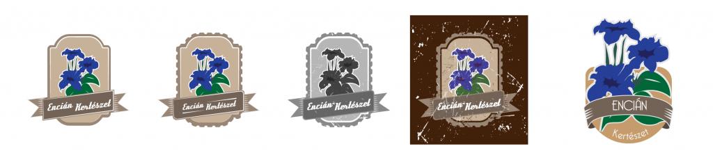 Kertészet logó variációk